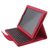 High quality Removable Bluetooth Wireless Keyboard With pu Leather Cover Case For Apple iPad 4 ipad 3 ipad 2 keyboard