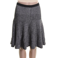 Marc by Marc Jacobs Womens Cotton Marled A-Line Skirt