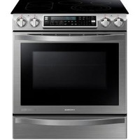 Samsung, CHEF Collection 30 in. W 5.8 cu. ft. Slide-In Flex Duo Range with Self-Cleaning Convection Oven in Stainless Steel, NE58H9950WS at The Home Depot - Mobile