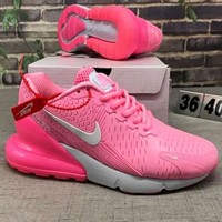 """NIKE""270 Trending Fashion Casual Sports Shoes Contrast Pink"