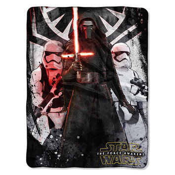 Star Wars EPS 7 - First Order  Micro Raschel Blanket (46in x 60in)