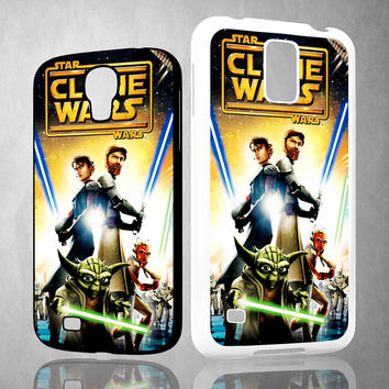 The Clone Wars film poster Z0599 Samsung Galaxy S3 S4 S5 (Mini) S6 S6 Edge,Note 2 3 4, HTC One S X M7 M8 M9 Cases