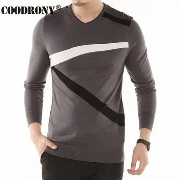 New Thin Sweater Men Knitted Cashmere Wool Pullover Men Fashion Flash Pattern V-Neck Pull