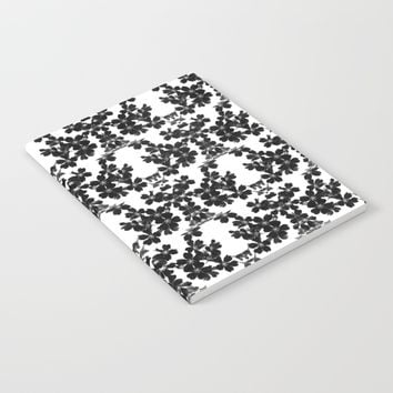 primrose bw pattern Notebook by ARTbyJWP