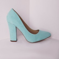 Missguided - Block Heel Court Shoes Mint