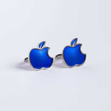 Apple Cufflinks blue