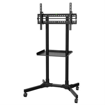 Sturdy Rolling TV Stand Trolley Cart with Shelf For Flat Screen TV's 32 To 55-Inch