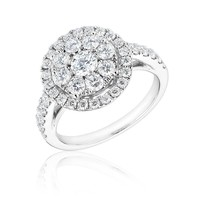 Forevermark Round Diamond Halo Fashion Ring 1 1/2ctw