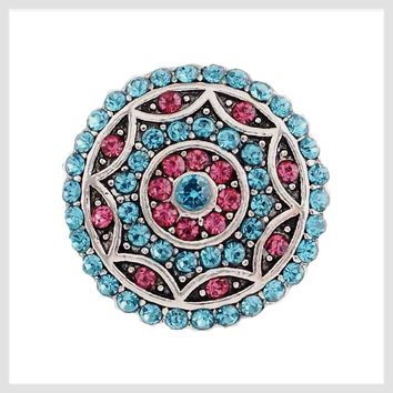 """Turquoise Pink Stones 22mm 3/4"""""""