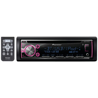 PIONEER DEH-X6700BT Single-DIN In-Dash CD Receiver with Bluetooth(R), MIXTRAX(R), Siri(R) Eyes Free, USB, Pandora(R) Internet Radio Ready, Android(TM) Music Support & Color Customization