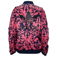 adidas Originals Baroque Ornament AOP Satin Bomber - Women's at Foot Locker
