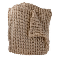 Claire Camel Knit Throw