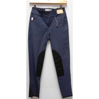 TS 1967 Bell Bottom Blue w/Black Knee Patch Low Rise Front Zip Breech