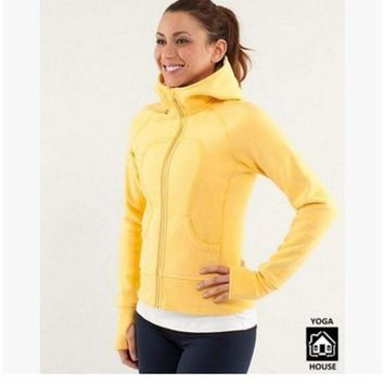 DCCKU3N lululemon' Scuba Hoodie jog run yoga workout clothes style fashion Yellow