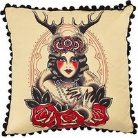 Lady of the Woods Throw Pillow - Decorative Pillows