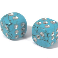 Turquoise set of two dices