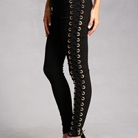 Crisscross Lace-Up Leggings