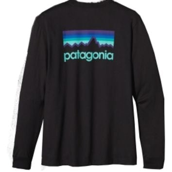Patagonia Men's Line Logo Long Sleeve T-Shirt | DICK'S Sporting Goods