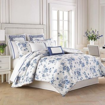 Wedgwood® China Blue Floral Comforter Set
