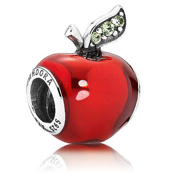 Disney Parks Snow White Apple Charm Pandora Jewerly New With Pouch