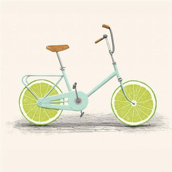 Canvas Painting Art Fruits Lemon Bike Posters and Prints Kitchen Wall Pictures for Living Room Home Decor Pop Art
