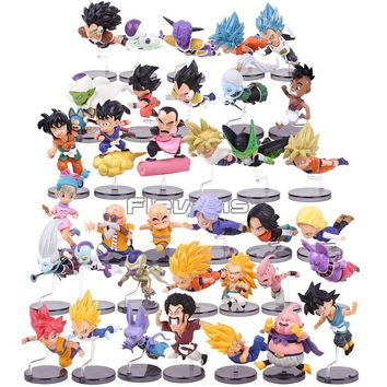Dragon Ball Z The Historical Characters Series 1~6 Son Goku Bulma Master Roshi Krillin PVC Figures Collectible Toys 6pcs/set
