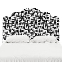 Psychedelic Circles Headboard Decal