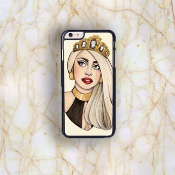 Dream colorful Dream colorful Lady Gaga Plastic Case Cover for Apple iPhone 6 Plus 4 4s 5 5s 5c 6