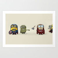 Minion Avengers Art Print by CforCel