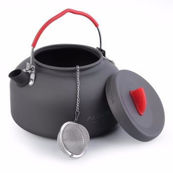 Alocs 1.4L Aluminum CW-K03 Outdoor Kettle Camping Picnic Water Teapot Coffee Pot free shipping