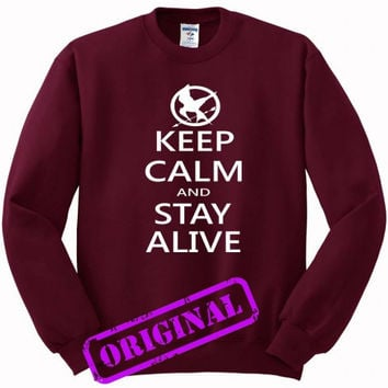 hunger games quotes for Sweater maroon, Sweatshirt maroon unisex adult