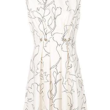 ONETOW Carven Floral Print Dress - Farfetch