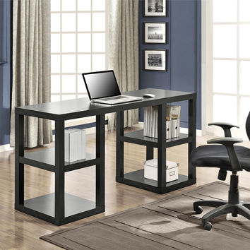 Altra Parsons Deluxe Desk Black Oak
