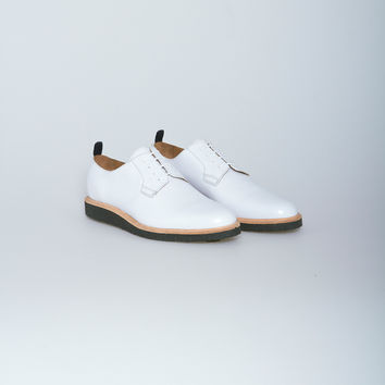 Nahariya Leather Derby Shoe in White