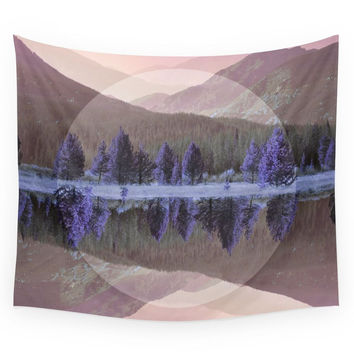 Society6 Mountain Mirror Wall Tapestry