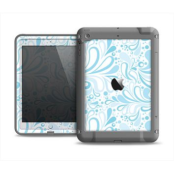The Light Blue Droplet Sprout Pattern Apple iPad Air LifeProof Fre Case Skin Set