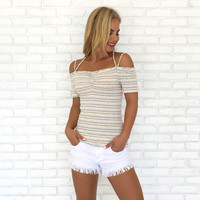 Stripe Back Top