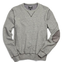 Patch Sweatshirt in Gunmetal Heather