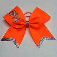 Neon orange, neon pink or neon green 3 inch cheerleader cheer bow ifly ibase