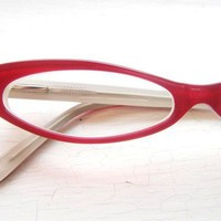 Wicked Slim Pointy Cat Eye Eyeglass Frames by BackThennishVintage