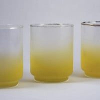 Libbey Satin Frosted Glass (Yellow)