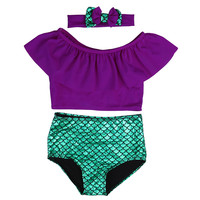 Kids Girls clothes set Baby Girls Mermaid Swimwear Children
