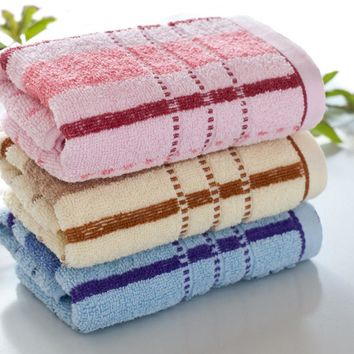 High Quality Face Towel Bath Thick Absorbent Soft Cotton Hand Towel Travel Beach Towels Color Stripes Washcloth V2786