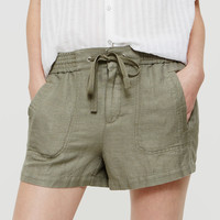 Lou & Grey Brushed Linen Shorts | LOFT