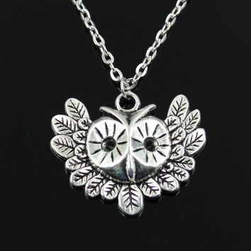 Simple Classic fashion big eye owl Antique Silver Pendant Girl Short Long Chain Necklaces Jewelry for women