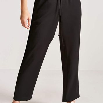 High-Rise Crepe Trousers