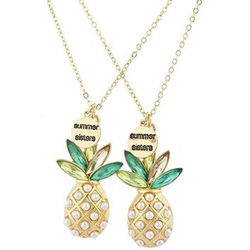 BFF Couple Pineapple necklace