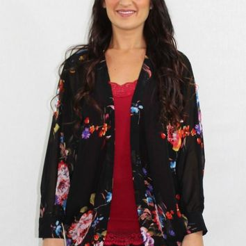 Forever Young Floral Sheer Cardigan