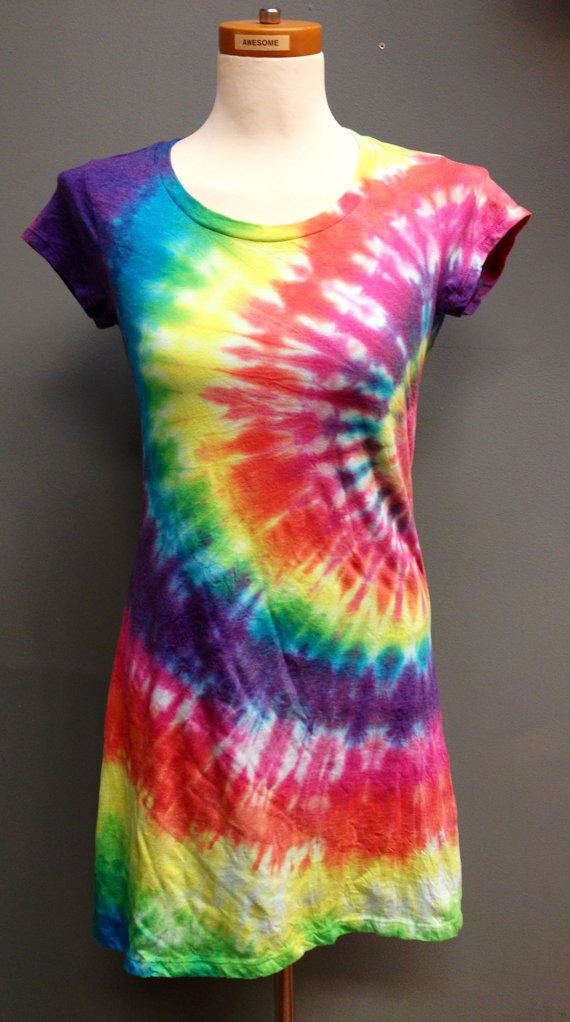 Rainbow Tie Dye T Shirt Dress Women 39 S From 2dye4designs