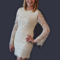 Great Gatsby Lace Dress - Ivory - Hazel & Olive
